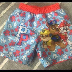Nickelodeon boys Paw Patrol bathing suit shorts